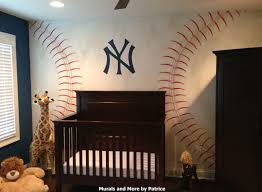 best 25 baseball wall ideas only on pinterest boys baseball a ny yankees nursery featuring a ny yankees hand painted baseball wall mural and 3