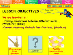 recurring decimals to fractions lesson by mistrym03 teaching