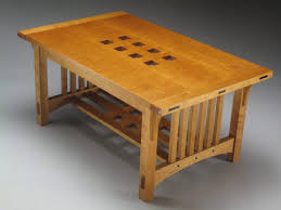 arts and crafts coffee table two flavours finewoodworking