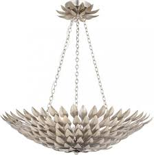 Silver Chandelier by Crystorama 517 Ga Leaf Flower Fruit Six Light Chandelier From