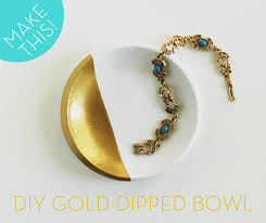 how to make a diy gold paint dipped faux porcelain bowl from