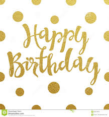 Border Designs For Birthday Cards Gold Lettering Design For Card Happy Birthday Stock Vector Image