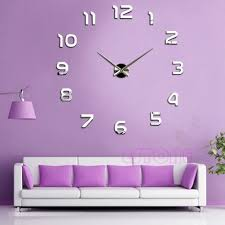 new fashion large number wall clock diy 3d mirror sticker home does not apply