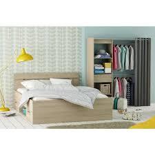 lit chambre adulte chambre adulte 140x200 lit dressing imitation chêne brossé achat
