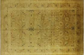 Wool Area Rugs Oushak Collection Handmade 12x18 Knotted Ivory Wool