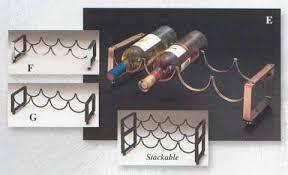 4 bottle copper stackable wine rack olays com copperware