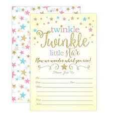 twinkle twinkle baby shower invitations twinkle twinkle gender reveal invitations