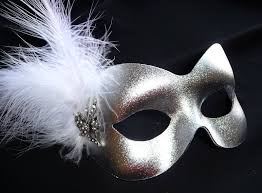 silver mask silver white feather butterfly masquerade mask