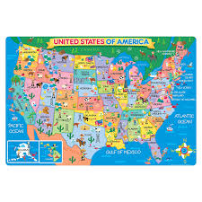 Map Of The United States With States by Amazon Com T S Shure Map Of The U S A Jumbo Floor Puzzle Toys