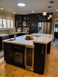 Kitchen With L Shaped Island Modern L Shaped Kitchen Island With Cabinet Storage 9142