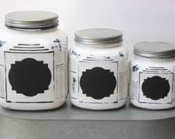 white canister sets kitchen white canisters etsy