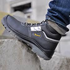 Light Work Boots Safetoe Brand Safety Shoes Work Boots Men Steel Toe Cap Light