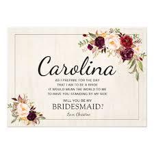 bridesmaid invitation card rustic boho chic will you be my bridesmaid cards boho chic and