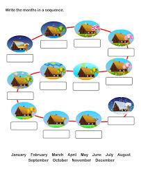 twelve months worksheets for kids free printable worksheets for