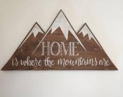 mountain wall decor etsy