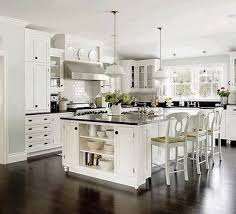 white kitchen cupboards black bench floors white kitche and granite benchtop white