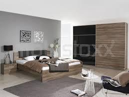 chambre 180x200 chambre complète 180x200 cm chêne havanna basalte chez mobistoxx
