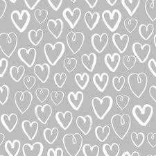 heart grey and white hand drawn hearts on grey for textiles and