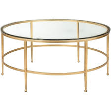 Overstock Round Coffee Table - safavieh couture high line collection edmund antique gold gilt