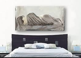 Greige Bedroom Greige Netural Large Wall Art Bedroom Decor Figurative Woman