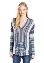 baja sweater billabong billabong juniors seaside stripe baja sweater with