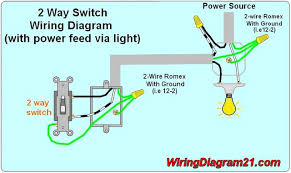 light and outlet 2way switch wiring diagram electrical wiring
