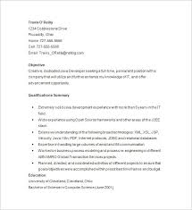 Sample Summary In Resume by Java Developer Resume Template U2013 14 Free Samples Examples