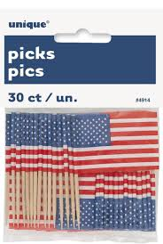 American Flag Picture Us American Flag Cupcake Toppers Pack Of 30 Amazon Co Uk Toys