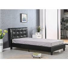 merax stylish metal bed frame twin mattress foundation with