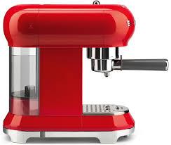 smeg ecf01rduk 50 u0027s retro style espresso coffee machine ecf01rduk