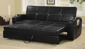 Futon Leather Sofa Bed Coaster Furniture 300132 Faux Leather Sofa Bed