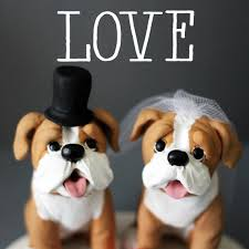 bulldog cake topper white and bulldog wedding cake toppers by cherryredtoppers