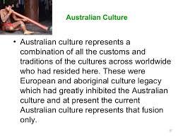 presentation on australia custom cuisine manner business lifestyle sh