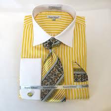 shirt tie hankie with cuff links