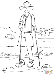 safari guide coloring page free printable coloring pages