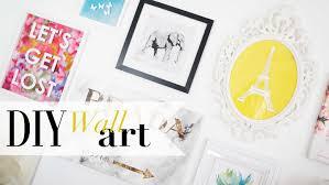 Pinterest Wall Art by Diy Gallery Wall Art Pinterest Inspired Ann Le Youtube