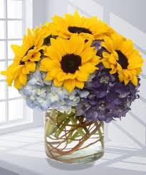 flowers atlanta sunflowers hydrangea flower arrangement carithers flowers