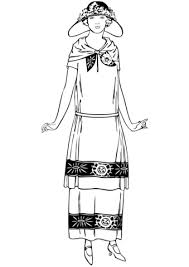 fashion design coloring pages 1920s style woman coloring page free printable coloring pages