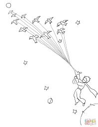 little prince leave his planet with migrating birds super