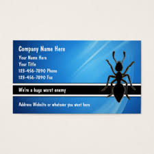 pest business cards templates zazzle