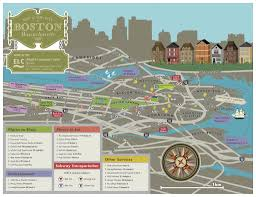 Boston Visitor Map by Boston Travel Guide Elc
