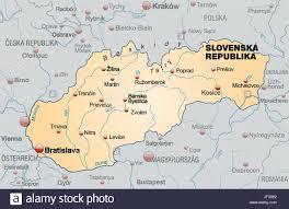 Slovakia Map Slovakia Border Card Synopsis Borders Atlas Map Of The World