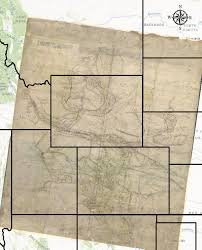 University Of Montana Map Digital Toolkit Jim Bridger U0027s Map And Euro American Settlement Of