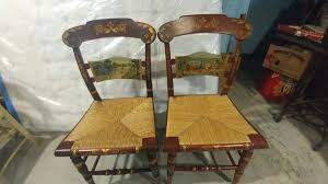 two hitchcock thanksgiving chairs limited antiques in canal