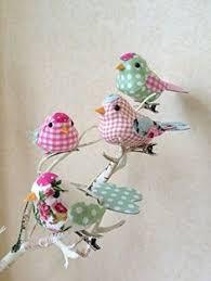 set of six feather bird clip decorations bird and bird
