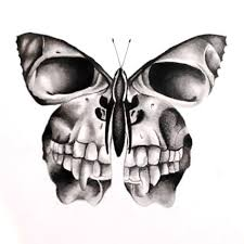 designs creative skull butterfly sketch salon