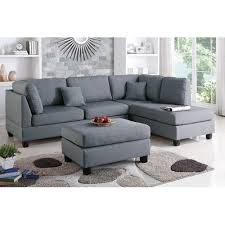 Sofa With Ottoman bobkona dervon polyfabric left or right hand chaise sectional with