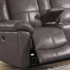 sofaweb com tahoe premium top grain grey leather power reclining