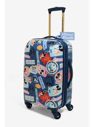 disney mickey mouse world traveler 21 inch spinner luggage