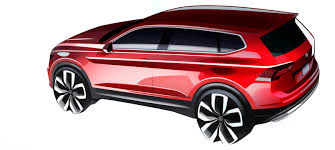 volkswagen tiguan 2018 interior new 2018 vw tiguan allspace with 7 seats teased ahead of detroit